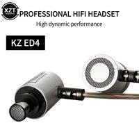 KZ ED4 Metall Stereo Kopfhörer Ear In-ohr Musik Ohrhörer mit Mikrofon für Handy MP3 MP4