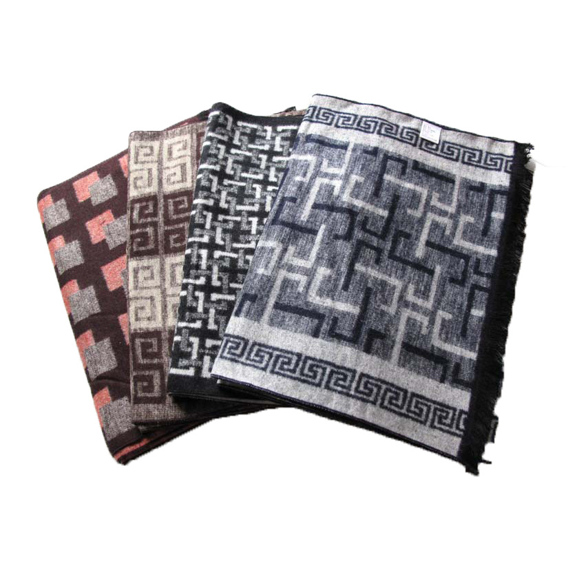 Real Silk Men Winter Scarf Warm Printed Real Silk Brushed Scarf Foreign Affairs Gift