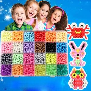 Image 1 - Enfants perles artisanat pour enfants 5200 pièces bricolage perles cristal matériel créatif enfants perles jet deau magique Puzzle jouets pour enfants,perle a repasser pour enfants jeux montessori educatif aquabeads