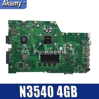 Amazoon  X751MD Motherboard rev2.0 N3540 4GB For ASUS k751M K751MA X751MA R752M laptop Motherboard X751MD Mainboard 100% tested Motherboards     -