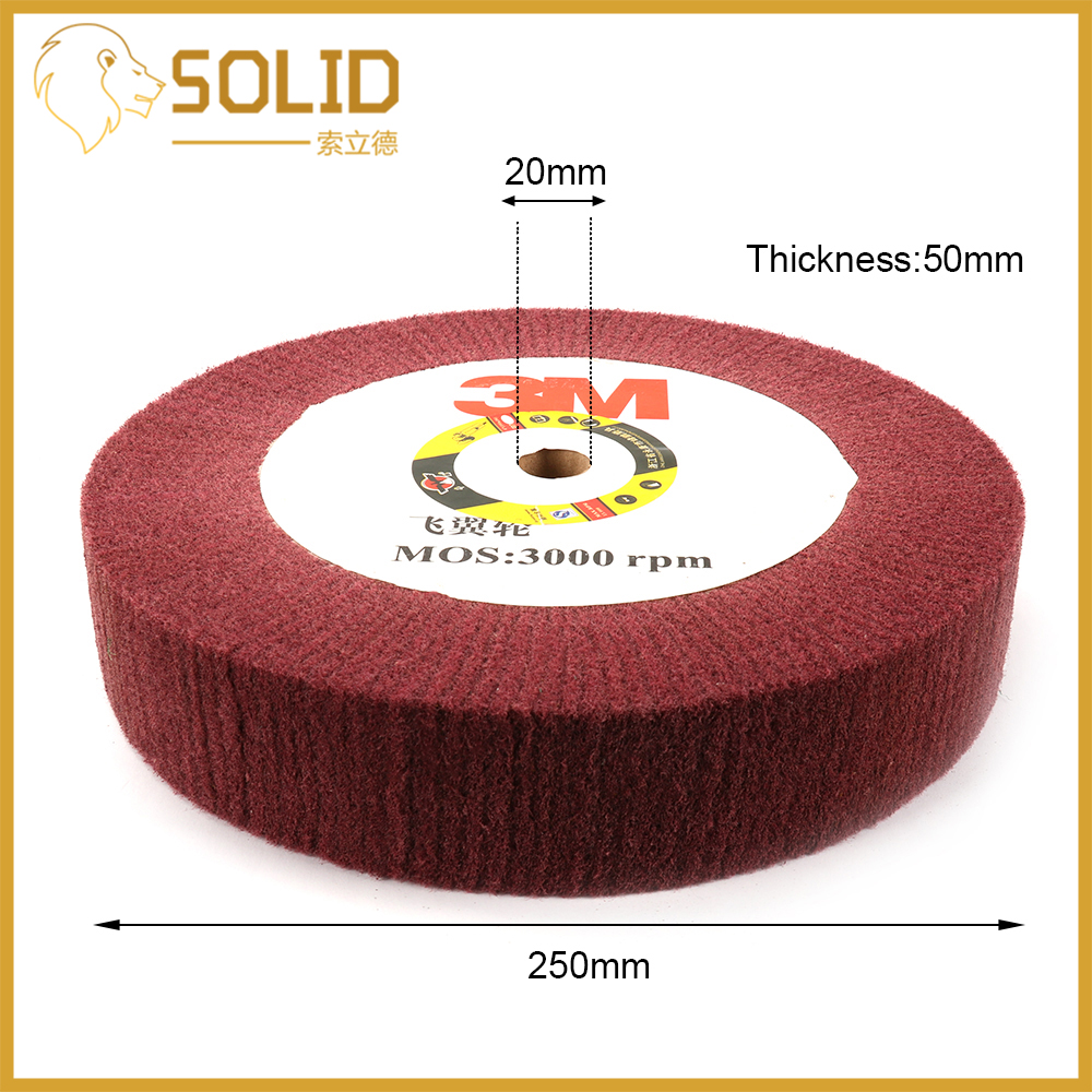 Abrasive Grinding Flap Wheel Fiber Flap Discs Bore 20mm For Angle Grinder Polishing Tools Diameter 100/125/150/200/250/300mm Red
