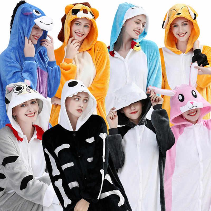 HHKSNG yetişkin rakun Onesies fermuar kostüm pazen karikatür pijama hayvan cadılar bayramı partisi tulumlar pijama takım Kigurumi