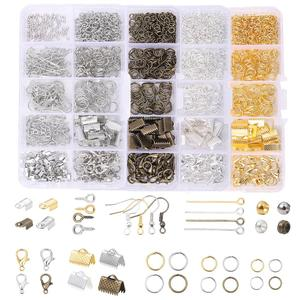 Alloy Accessories Set Jewelry findings Tools Clip buckle Lobster Clasp Open Jump Rings Earring Hook Jewelry Making Supplies Kit