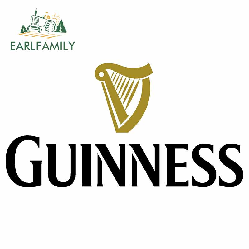 EARLFAMILY 13cm X 6.7cm For GUINNESS Motorcycle Car Stickers Bumper Window DIY Waterproof 3D Fashion Occlusion Scratch JDM Decal