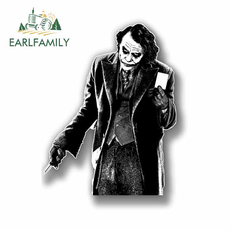 EARLFAMILY 13cm X 9.4cm For The Joker Funny Car Stickers Fashion Occlusion Scratch Bumper Window Stickers 3D Waterproof
