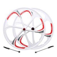 "26"" inches Mountain Bicycle Wheel MTB Rim 6 spokes wheels bike rims mountain bike wheels magnesium alloy 26 speeds Bicycle Wheel    -"