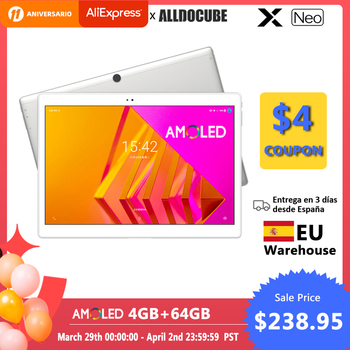 ALLDOCUBE X Neo AMOLED Screen Tablet 10.5 inch  Android 9.0 4GB 64GB 2.5k 2560×1600 IPS Dual SIM LTE 4G Tablet PC Bluetooth 5.0 1