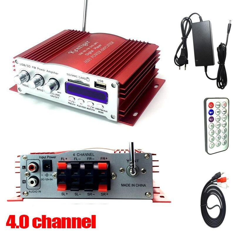 KENTIGER HY-502S 40W Mini Bluetooth Verstärker Fernbedienung USB/SD Card Player FM Radio Power Adapter Und AUX kabel Optional
