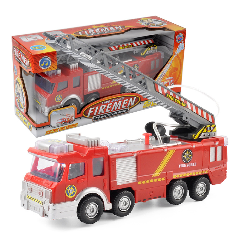 Children Electric Water Spouting Firefighting Car Strange New Toy Music Lights Universal Sensing New Style Stall Hot Selling