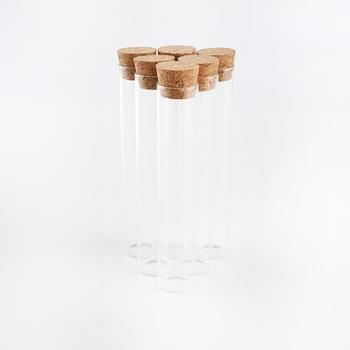 30ml pusty szklany przezroczysty butelki z korkami korek szklane fiolki słoiki butelki do przechowywania probówki słoiki (52pcs-22x120mm) tanie i dobre opinie JIUYUE CN (pochodzenie) Ekologiczne Na rozmaitości Szkło Butelki i słoiki przechowywania