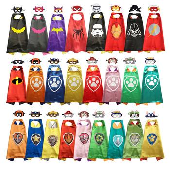 Superbohater peleryna z maską halloween kostiumy superbohater kostium Anime Party sprzyja superbohaterowi przebranie na karnawał tanie i dobre opinie BDAYPRT CN (pochodzenie) Płaszcz Oryginalny Unisex Dzieci Akcesoria Other C500
