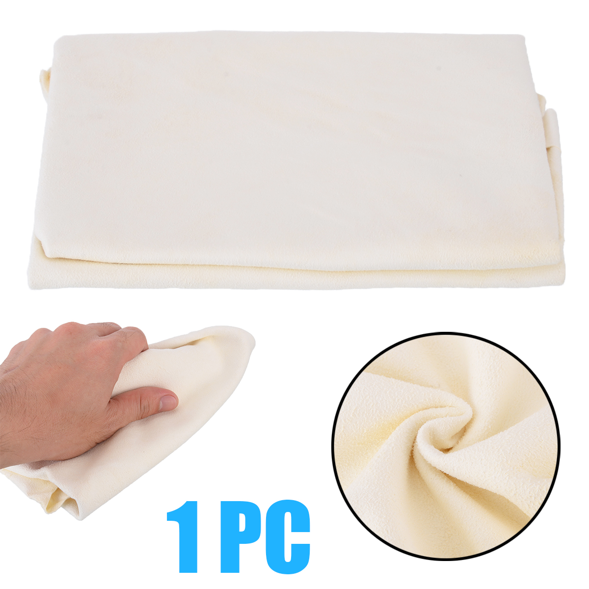 For Car Cleaning Tool 1pc 30*60cm Natural Shammy Chamois Leather Towel Drying Washing Cloth Mayitr