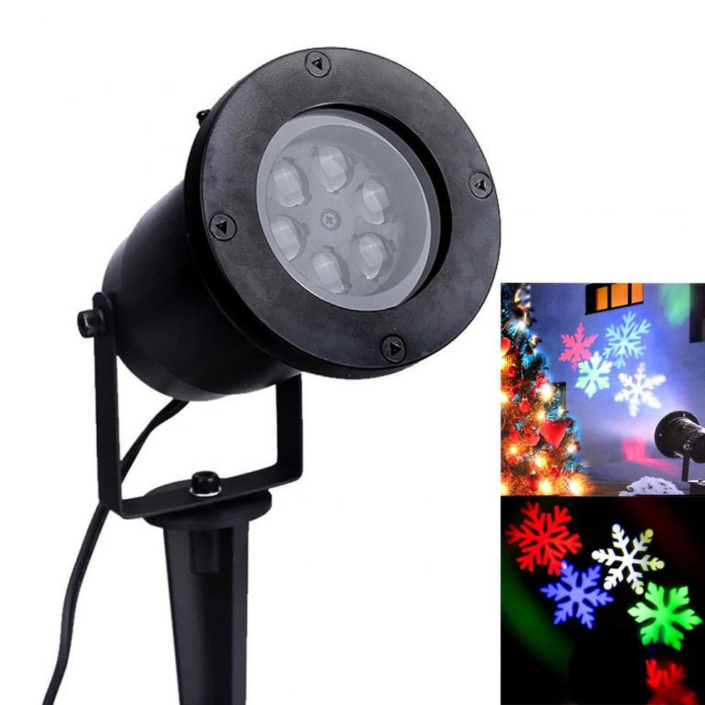 RGB Outdoor Waterproof Garden Tree Moving Snow Laser Projector Snowflake LED Stage Light Christmas Lights Projector Lamp