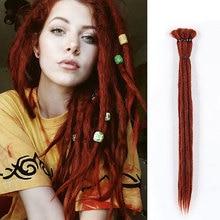20 inch Handmade Dreadlocks Hair Extensions Crochet Braid Re