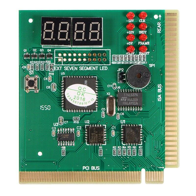 Diagnostic PCI 4-Digit Card PC Motherboard Post Checker Tester Analyzer Laptop