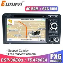 Eunavi z systemem Android 10 4G 64G 2 DIN samochodowy odtwarzacz DVD GPS dla Audi A3 8P 2003-2012 S3 2006-2012 RS3 Sportback 2011 odtwarzacz multimedialny 8 rdzeni tanie tanio CN (pochodzenie) Double Din Rohs 4*45w 256G System operacyjny Android 10 0 Dvd-r rw Dvd-ram Video cd Jpeg 1024*600 Bluetooth