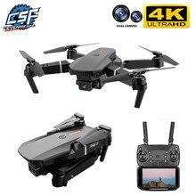 2020 novo e88 pro 4k zangão gps drones com câmera hd 4k rc avião duplo-câmera grande angular cabeça remoto quadcopter aeronaves brinquedo