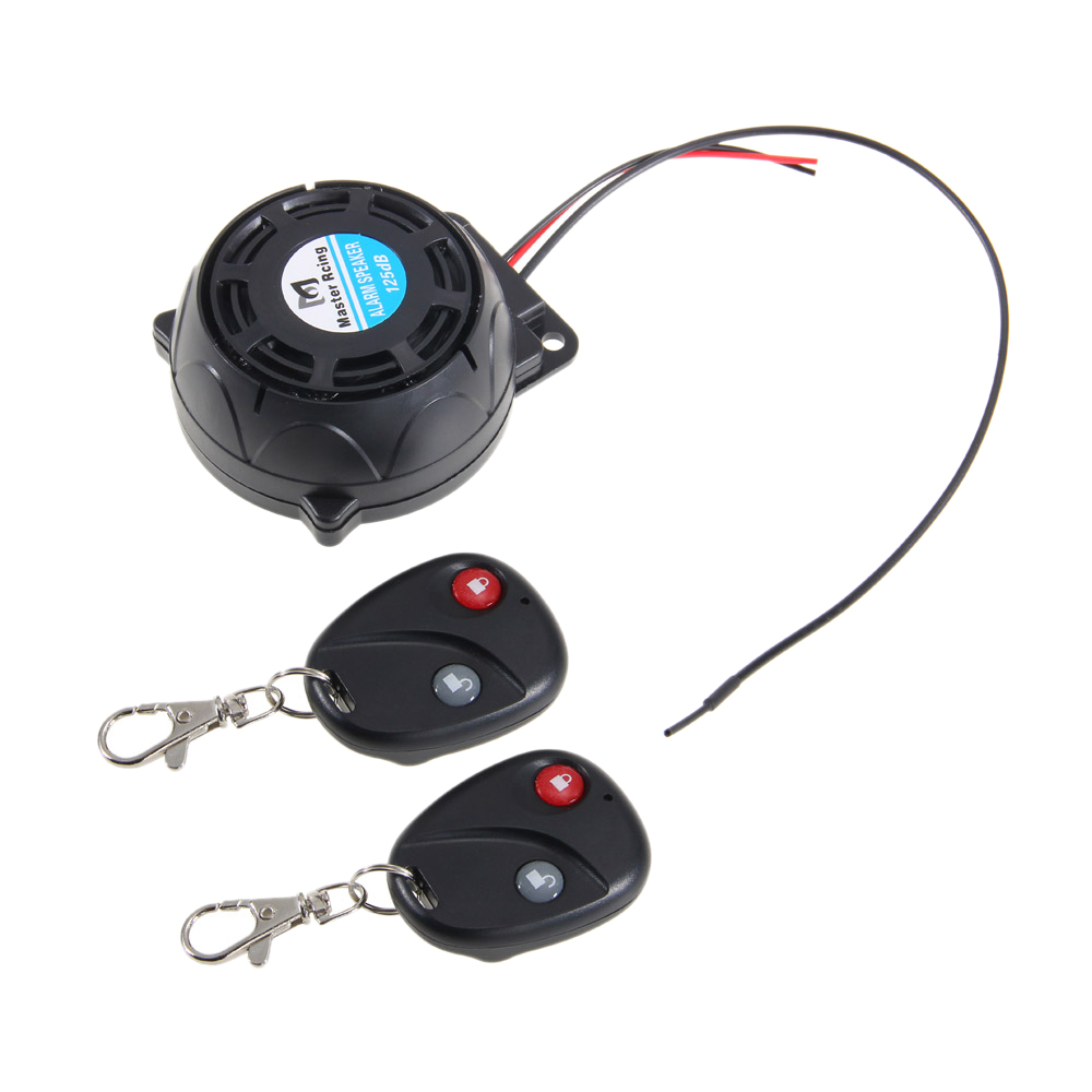 Motorcycle Anti-Theft Alarm System Warning Vibration Lock Anti-Theft Alarm Double Remote Control Sensor
