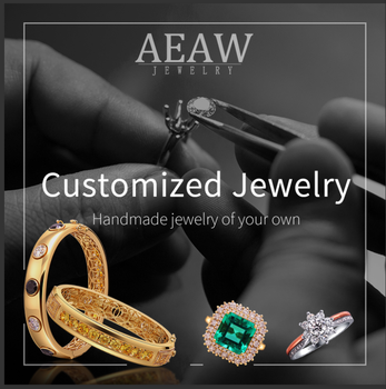 AEAW Customize the  silver moissanite pendant and cub necklace