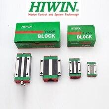 מקורי HIWIN ינארית מדריך בלוק תובלה HGH HGW EGH 15 20 25 30 35 CA CC MGN 7 9 12 15 C H לHGR EGR MGNR רכבת ליניארי CNC