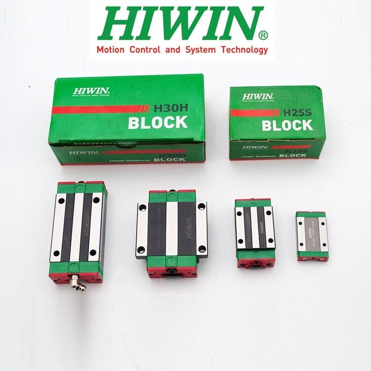 Oryginalna prowadnica liniowa HIWIN wózek blokowy HGH HGW EGH 15 20 25 30 35 CA CC MGN 7 9 12 15 C H dla HGR EGR MGNR szyna liniowa CNC