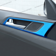 Lsrtw2017 Stainless Steel Abs Car Door Bowl Handle Frame Trims for Hyundai Tucson 2015 2016 2017 2018 2019 2020 Accessories lsrtw2017 stainless steel car co pilot storage box switch handle trims for kia kx cross k2 rio 2017 2018 2019 2020