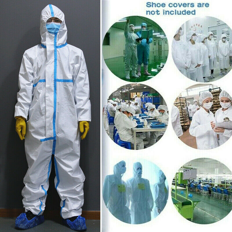 2020 Disposable Coveralls Clothing Protective Safety Overalls Suit Full Protection Anti-Virus Flu Clothing Suit