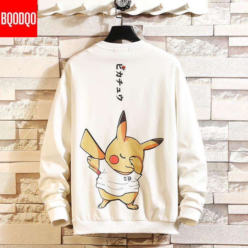 5XL Anime Hoodies Men Black Hooded Japanese Style Cartoon Sweatshirt Mens Hip Hop Brown Causal Hoodiee No Xxxtentacion Loose