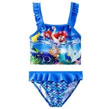Окончательная распродажа! Купальный костюм из двух предметов для девочек, Детский комплект бикини для девочек, детский купальный костюм, бикини, Infantil-H042/H043