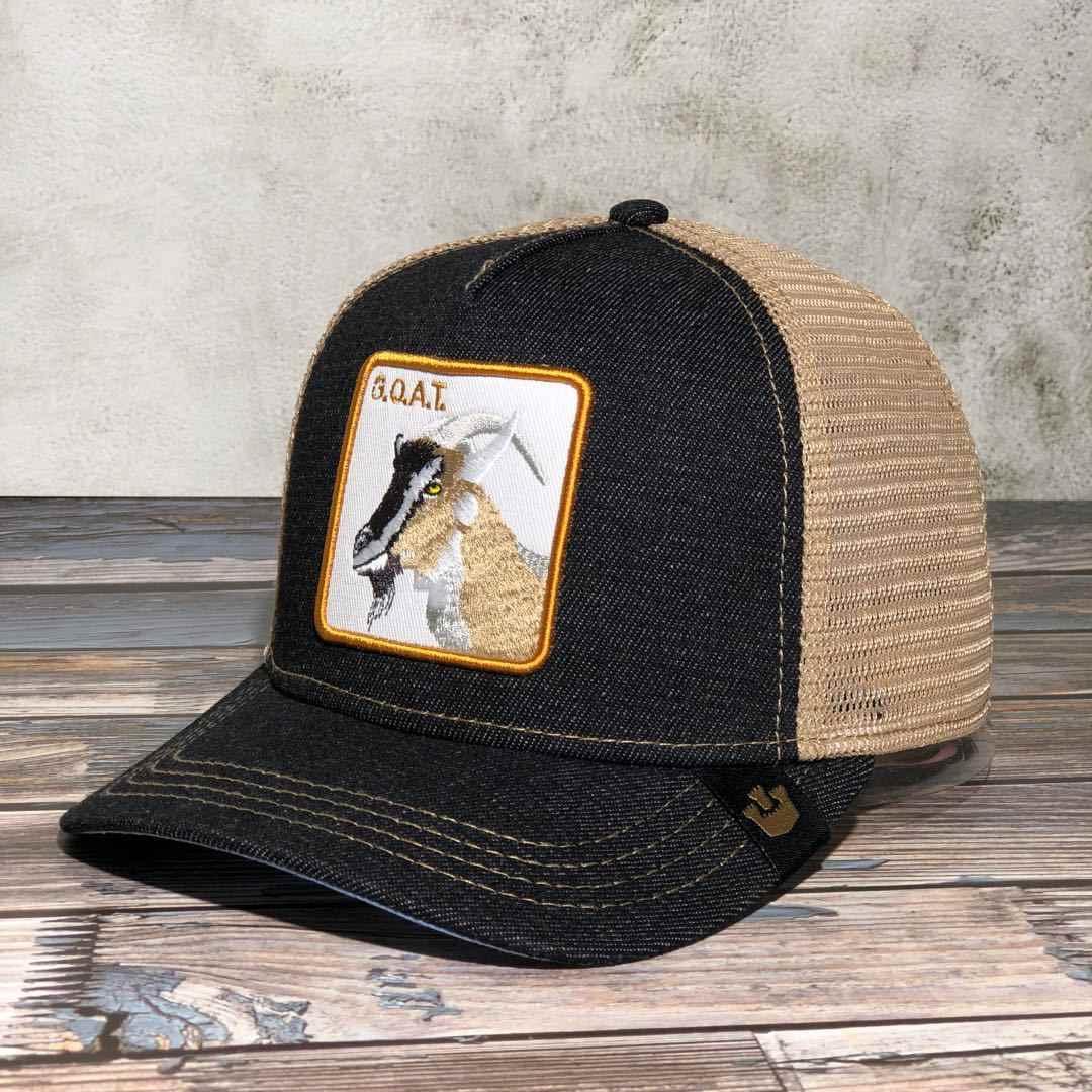 Yeni keçi BAD BOY Snapback kapaklar yaz nefes beyzbol şapkası serin Streetwear kurt nakış kamyon şoförü kemikleri Unisex Hip Hop şapka