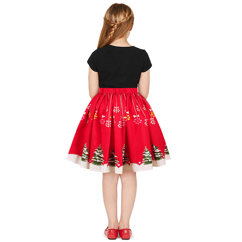 Christmas Girls Dress Teens Girls Party Dresses For Girls Family Matching Outfits New Year Mom Daughter Dresses Carnival Dress (11)