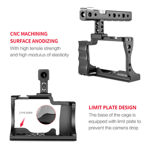 Image 3 - Andoer Camera Cage + Top Handle Kit Aluminum Alloy with Cold Shoe Mount Compatible with Canon EOS M50 DSLR Camera