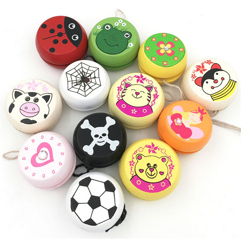 5cm Wooden Yo Yo Personality Creative Building Personality Sport Hobbies Classic Yoyo Classic Toys For Children Christmas