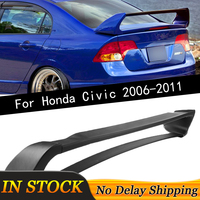 New Car ABS Rear Trunk Spoiler Wing Lip For Honda Civic 2006 2011 4DR 4 Door Mugen Style Tail Refit Auto Accessories Car Styling