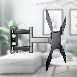 TV Wall Mount for Most 26-50Inch with Swivel Extend 400mm TV Bracket VESA 400x400 Fits TVs Up to 88lbs with Free HDMI Cable(China)