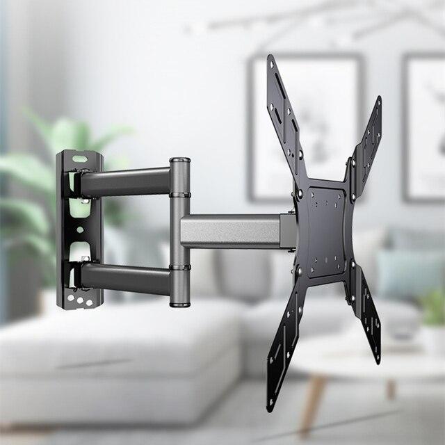 TV Wand Halterung für Die Meisten 26 50 Zoll mit Swivel Verlängern 400mm TV Halterung VESA 400x400 passt TVs Bis zu 88lbs mit Freies HDMI Kabel