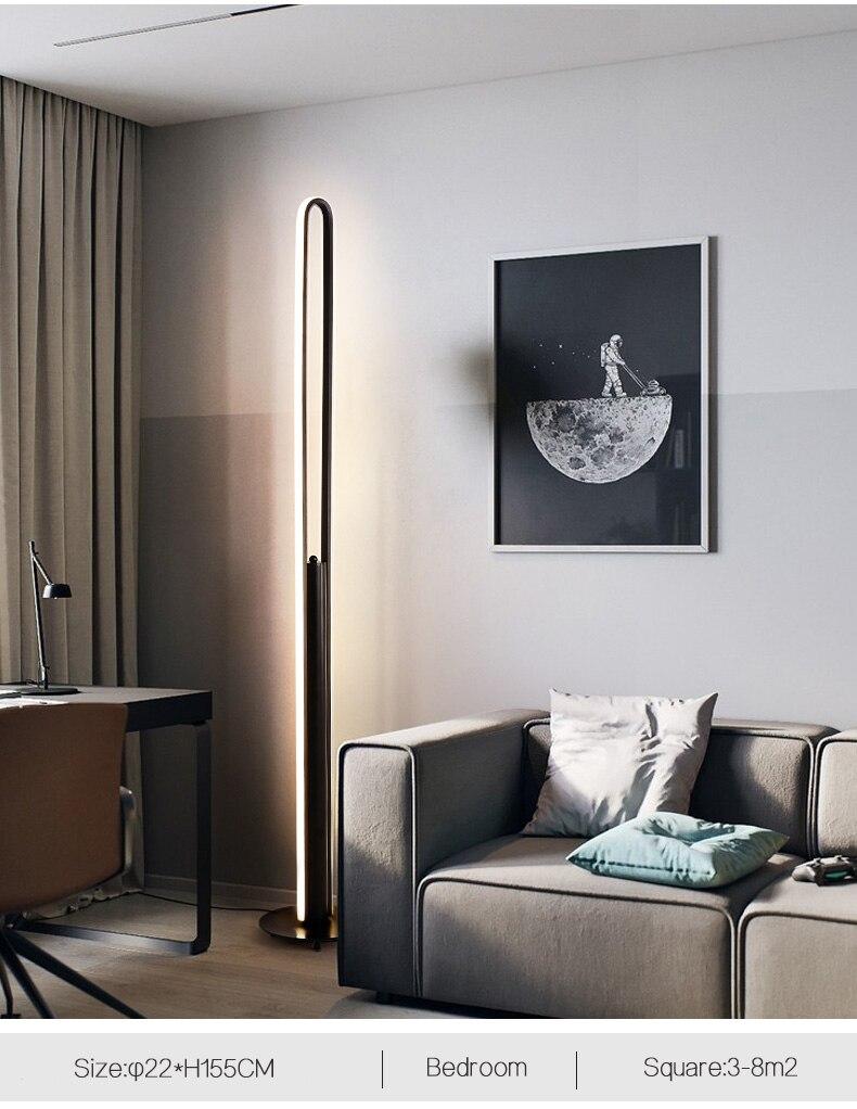 Led Modern Simple Floor Lamp Standing Lamp Art Decoration Nordic