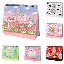 Desk-Calendar Daily-Schedule-Planner Oraganizer Mini Cartoon Dinosaur Hand-Drawing
