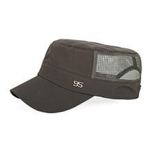 Adjustable Outdoor Baseball Cap Breathable Flat Mesh Hat Sun Hats for Men