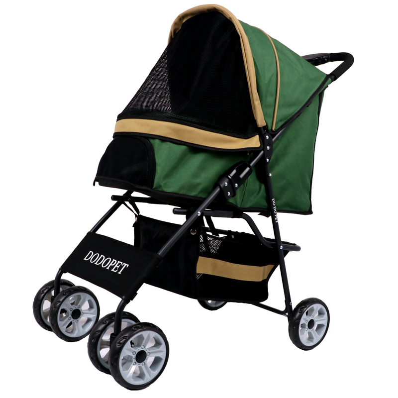 folding-pet-trolley-dog-dog-cat-teddy-trolley-four-wheeled-travel-supplies-go-out-light-pet-stroller-puppy-carrier