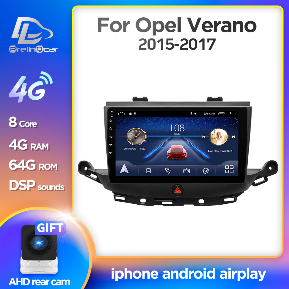 4G LTE Android 9.0 Car Gps Multimedia Video Radio Player In Dash For Opel ASTRA K 2016 2017 Years Autoradio Navigation Stereo