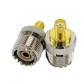 SL16 M tipo UHF tipo hembra a SMA conector hembra conector coaxial RF M-SMA RF conector 4 unids/lote
