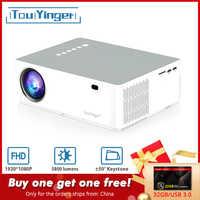 TouYinger M19 projecteur Full HD 1080P 5800 lumen soutien AC3 LED vidéo Home cinéma Full HD film Beamer Android TV Box en option