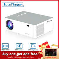 TouYinger M19 proyector Full HD 1080P 5800 lumen apoyo AC3 LED vídeo doméstico teatro lleno HD película proyector Android TV caja opcional