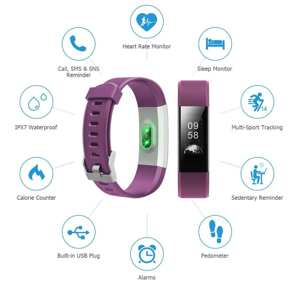 Funasera Смарт-часы для мужчин женщин монитор сердечного ритма крови Давление фитнес трекер Смарт-часы спортивные часы для ios android + коробка 4