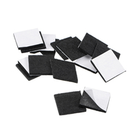 uxcell Furniture Pads Adhesive Felt Pads 25mm x 25mm Square 3mm Thick Black 28Pcs Furniture Pads     -