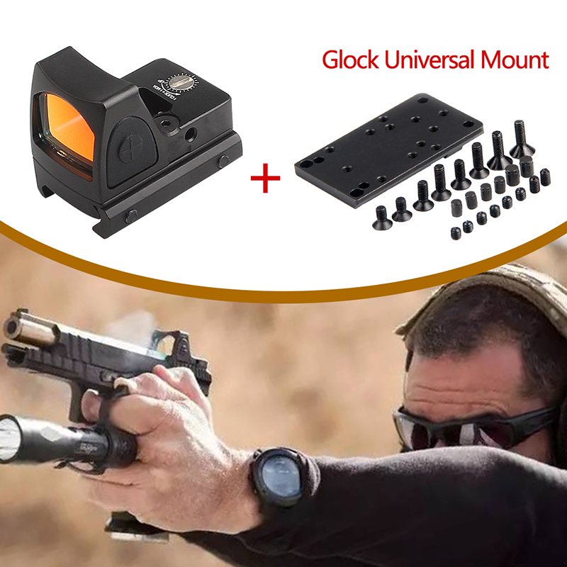 Glock Sight Micro Red Dot RMR Collimator Scope Airsoft Sight With Glock Universal Mount Airsoft Hunting Rifle Mini Optical Sight