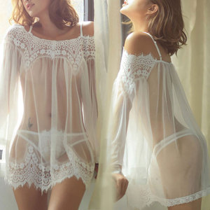 Erotic Women Sex Nightwear Sexy Lace Lingerie Porn Sleepwear Underwear Sex Clothes Babydoll G-String Set Erspective Tassel Dress