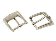 DIY leather craft women men belt gold-silver braided rope patternpin buckle30mm