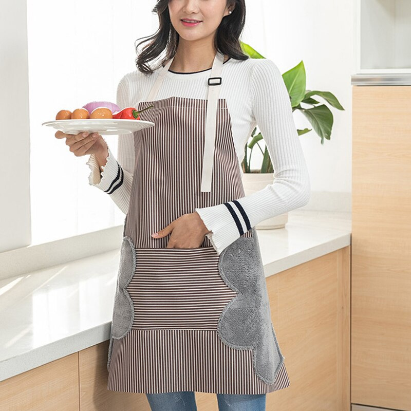 Multi-functional Kitchen Apron Oil Proof Water Resistant Apron With Pockets KNG88
